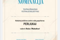 Perliukas - nominacija