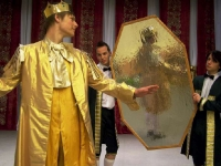 """Scena iš spektaklio """"Andersenas – pasakų karalius"""""""