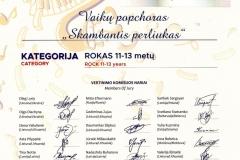 Vaikų popchoras SKAMBANTIS PERLIUKAS_Muzikos talentų lyga II vieta_ Rokas