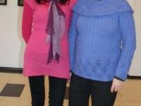 Seniūnė Kristina Župerkienė (dešinėje) – nepamainoma choro vadovės Aušros Kazlauskienės pagalbininkė.