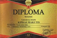 KIras II vieta Diplomas