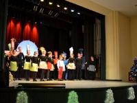 Scena iš Kėdainių kultūros centro vaikų ir jaunimo teatro studijos POLĖKIS (vadovė Genovaitė Šaučiūnienė) kalėdinio spektaklio. 2015 12 16