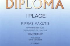 Kruizas- I vieta KIPRAS+URTĖ