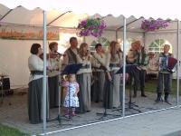 """Labūnavos liaudiškos muzikos kapela """"Barupė"""" (vadovas Algirdas Kučiauskas) Petrinių šventėje Babtuose, Kauno r."""