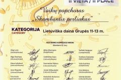 Vaikų popchoras SKAMBANTYS PERLIUKAI_MUZIKOS TALENTŲ LYGA II vieta